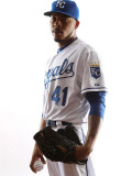 Kansas City Royals Photo Day, SURPRISE, AZ - FEBRUARY 23: Jeremy Jeffress Photographic Print by Jonathan Ferrey