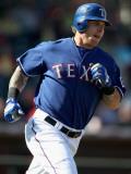 Los Angeles Angels of Anaheim v Texas Rangers, SURPRISE, AZ - MARCH 02: Josh Hamilton Photographic Print by Christian Petersen