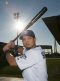 San Diego Padres Photo Day, PEORIA, AZ - FEBRUARY 23: Jason Bartlett Photographic Print by Rob Tringali