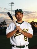 Oakland Athletics Photo Day, PHOENIX, AZ - FEBRUARY 24: Kurt Suzuki Photographic Print by Ezra Shaw