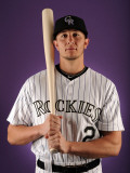 Colorado Rockies Photo Day, SCOTTSDALE, AZ - FEBRUARY 24: Troy Tulowitzki Photographic Print by Harry How