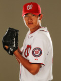 Washington Nationals Photo Day, VIERA, FL - FEBRUARY 25: Chien-Ming Wang Photographic Print by Al Bello