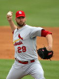 St. Louis Cardinals v Florida Marlins, JUPITER, FL - MARCH 01: Chris Carpenter Fotografie-Druck von Marc Serota