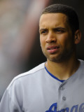 Los Angeles Dodgers v San Francisco Giants, SCOTTSDALE, AZ - FEBRUARY 26: James Loney Photographic Print by Rob Tringali