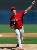 Philadelphia Phillies v New York Yankees, TAMPA, FL - FEBRUARY 26: Cole Hamels Photographic Print by J. Meric