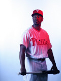 Philadelphia Phillies Photo Day, CLEARWATER, FL - FEBRUARY 22: Jimmy Rollins Photographic Print by Nick Laham