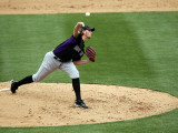 Colorado Rockies v Arizona Diamondbacks, SCOTTSDALE, AZ - FEBRUARY 26: Greg Reynolds Photographic Print by Jonathan Ferrey