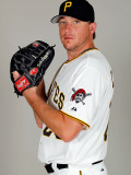 Pittsburgh Pirates Photo Day, BRADENTON, FL - FEBRUARY 20: Kevin Correia Photographic Print by J. Meric