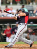 Atlanta Braves v Houston Astros, KISSIMMEE, FL - MARCH 01: Dan Uggla Photographic Print by Mike Ehrmann