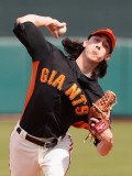 Chicago Cubs v San Francisco Giants, SCOTTSDALE, AZ - MARCH 01: Tim Lincecum Photographic Print by Christian Petersen