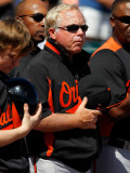 Baltimore Orioles v Pittsburgh Pirates, BRADENTON, FL - FEBRUARY 28: Buck Showalter Photographic Print by J. Meric