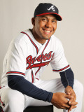 Atlanta Braves Photo Day, LAKE BUENA VISTA, FL - FEBRUARY 21: Wilkin Ramirez Photographic Print by Mike Ehrmann