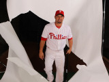 Philadelphia Phillies Photo Day, CLEARWATER, FL - FEBRUARY 22: Shane Victorino Photographic Print by Nick Laham
