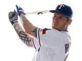 Texas Rangers Photo Day, SURPRISE, AZ - FEBRUARY 25: Josh Hamilton Photographie par Jonathan Ferrey