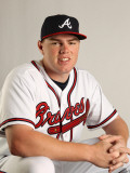 Atlanta Braves Photo Day, LAKE BUENA VISTA, FL - FEBRUARY 21: Freddie Freeman Photographic Print by Mike Ehrmann