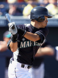 Oakland Athletics v Seattle Mariners, PEORIA, AZ - MARCH 12: Ichiro Suzuki Photographic Print by Christian Petersen