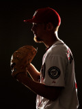 Washington Nationals Photo Day, VIERA, FL - FEBRUARY 25: Stephen Strasburg Photographic Print by Al Bello