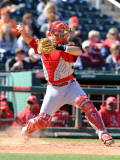 Cincinnati Reds v Cleveland Indians, GOODYEAR, AZ - FEBRUARY 27: Devin Mesoraco Photographic Print by Norm Hall