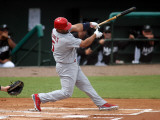 St. Louis Cardinals v Florida Marlins, JUPITER, FL - MARCH 06: Albert Pujols Photographic Print by Marc Serota