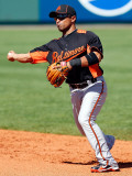 Baltimore Orioles v Pittsburgh Pirates, BRADENTON, FL - FEBRUARY 28: Cesar Izturis Photographic Print by J. Meric