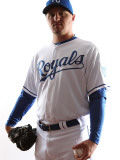 Kansas City Royals Photo Day, SURPRISE, AZ - FEBRUARY 23: Blaine Hardy Photographic Print by Jonathan Ferrey