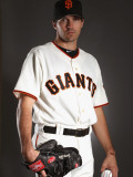 San Francisco Giants Photo Day, SCOTTSDALE, AZ - FEBRUARY 23: Barry Zito Photographic Print by Ezra Shaw