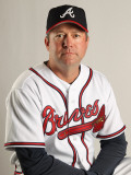 Atlanta Braves Photo Day, LAKE BUENA VISTA, FL - FEBRUARY 21: Roger McDowell Photographic Print by Mike Ehrmann