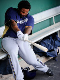 Milwaukee Brewers v San Francisco Giants, SCOTTSDALE, AZ - MARCH 14: Prince Fielder Photographic Print by Kevork Djansezian