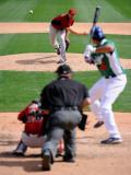 Chicago White Sox v Milwaukee Brewers, GLENDALE, AZ - MARCH 17: Aaron Heilman Photographic Print by Kevork Djansezian