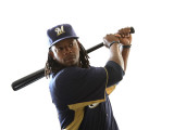 Milwaukee Brewers Photo Day, MARYVALE, AZ - FEBRUARY 24: Rickie Weeks Photographic Print by Jonathan Ferrey
