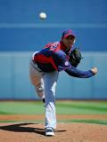 Cleveland Indians v San Diego Padres, PEORIA, AZ - MARCH 13: Carlos Carrasco Photographic Print by Kevork Djansezian