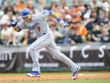 Los Angeles Dodgers v San Francisco Giants, SCOTTSDALE, AZ - FEBRUARY 26: James Loney Photographic Print by Rob Tringali