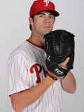 Philadelphia Phillies Photo Day, CLEARWATER, FL - FEBRUARY 22: Cole Hamels Fotografie-Druck von Nick Laham