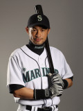 Seattle Mariners Photo Day, PEORIA, AZ - FEBRUARY 20: Ichiro Suzuki Photographic Print by Ezra Shaw