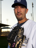 San Diego Padres Photo Day, PEORIA, AZ - FEBRUARY 23: Mike Adams Photographic Print by Rob Tringali