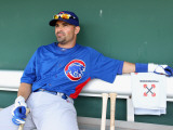 Chicago Cubs v San Francisco Giants, SCOTTSDALE, AZ - MARCH 01: Augie Ojeda Photographic Print by Christian Petersen