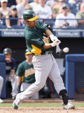 Oakland Athletics v San Diego Padres, PEORIA, AZ - MARCH 06: Kurt Suzuki Photographic Print by Christian Petersen
