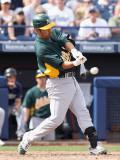 Oakland Athletics v San Diego Padres, PEORIA, AZ - MARCH 06: Kurt Suzuki Photographic Print by Christian Petersen