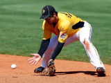 Baltimore Orioles v Pittsburgh Pirates, BRADENTON, FL - FEBRUARY 28: Chase d'Arnaud Photographic Print by J. Meric