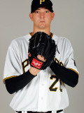 Pittsburgh Pirates Photo Day, BRADENTON, FL - FEBRUARY 20: Scott Olsen Photographic Print by J. Meric