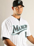 Florida Marlins Photo Day, JUPITER, FL - FEBRUARY 23: Anibal Sanchez Photographic Print by Mike Ehrmann