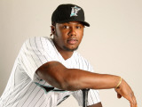 Florida Marlins Photo Day, JUPITER, FL - FEBRUARY 23: Hanley Ramirez Photographic Print by Mike Ehrmann