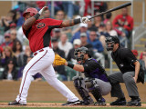 Colorado Rockies v Arizona Diamondbacks, SCOTTSDALE, AZ - FEBRUARY 26: Wily Mo Pena Photographic Print by Jonathan Ferrey