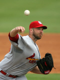 St. Louis Cardinals v Florida Marlins, JUPITER, FL - MARCH 01: Chris Carpenter Photographic Print by Marc Serota