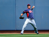 Cleveland Indians v San Diego Padres, PEORIA, AZ - MARCH 13: Michael Brantley Photographic Print by Kevork Djansezian