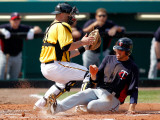 Minnesota Twins v Pittsburgh Pirates, BRADENTON, FL - MARCH 02: Trevor Plouffe and Ryan Doumit Photographic Print by J. Meric