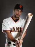 San Francisco Giants Photo Day, SCOTTSDALE, AZ - FEBRUARY 23: Andres Torres Photographic Print by Ezra Shaw