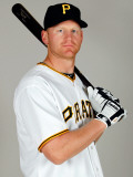 Pittsburgh Pirates Photo Day, BRADENTON, FL - FEBRUARY 20:  Infielder Lyle Overbay Photographic Print by J. Meric