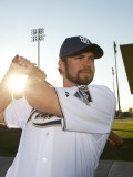 San Diego Padres Photo Day, PEORIA, AZ - FEBRUARY 23: Heath Bell Photographie par Rob Tringali