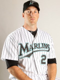 Florida Marlins Photo Day, JUPITER, FL - FEBRUARY 23: Shawn Hill Photographic Print by Mike Ehrmann